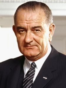 LBJ during his term as President of the United States succeeding J. F Kennedy.