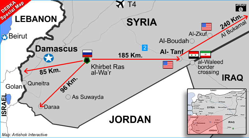 Russia Is Building A New Military Base Right Near Israels Border - Map of iraq us military bases
